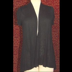 AB STUDIO black short sleeve cardigan M
